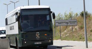 La foto de la emisora Radio María España recoge uno de los momentos del traslado de los encausados independentistas desde Madrid a Barcelona, donde permanecerán en prisión en espera de la decisión del Supremo.