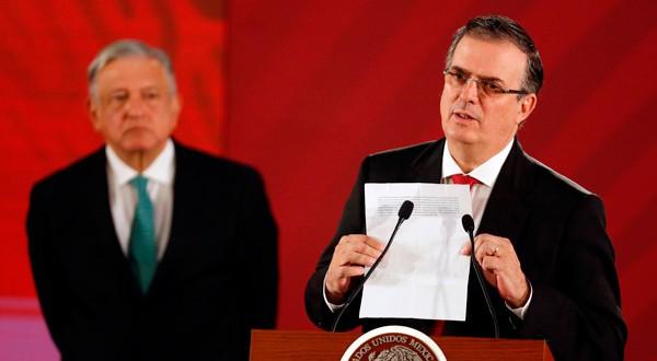Marcelo Ebrard y López Obrador presentaron los pormenores del acuerdo con EEUU.