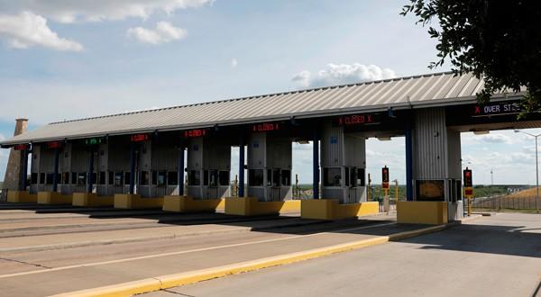 Frontera del Puente de Comercio Mundial con México, en Laredo, Texas.