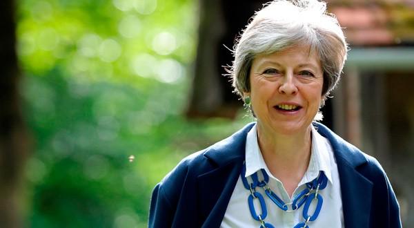 La Primera Ministra de Reino Unido, Theresa May, cerca de High Wycombe, Reino Unido.