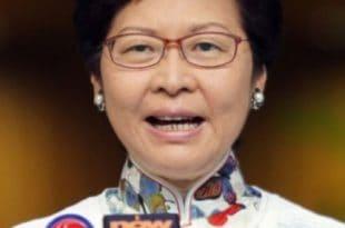 La jefa de la región administrativa especial de China, Carrie Lam, apuntó que los asuntos de Hong Kong son asuntos internos que solo le incumbe a su país.