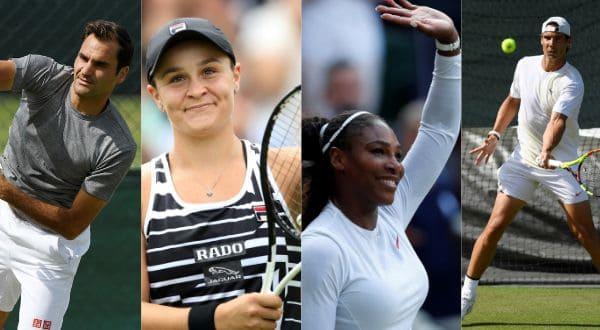 Federer, Barty, Williams y Nadal son algunos de los candidatos a coronarse en Wimbledon