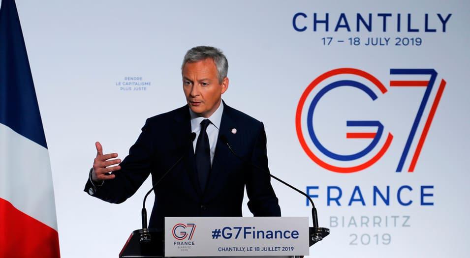 Bruno Le Maire, ministro de Finanzas francés, presidió la sesión del G7.