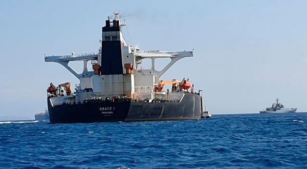 El Grace 1 se encuentra detenido por autoridades militares británicas en las aguas de Gibraltar.