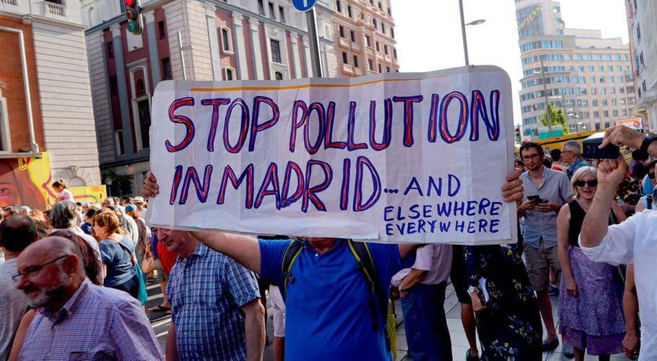 Numerosas organizaciones se han manifestado a favor de Madrid Central.