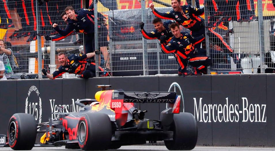 El Red Bull de Verstappen se quedó con el GP de Alemania.