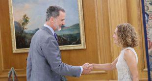 En el Palacio de La Zarzuela el Rey Felipe VI recibió en audiencia a la presidenta del Congreso de los Diputados Meritxell Batet quien le informó sobre la fallida investidura de Sánchez este jueves.