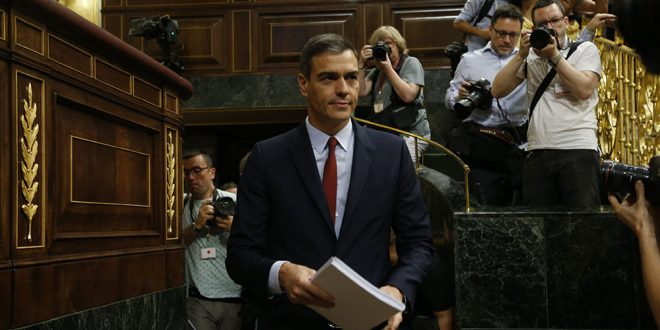 Este lunes correspondió al candidato del PSOE Pedro Sánchez su intervención en el Congreso de los Diputados donde se inició el pleno para la investidura presidencial.