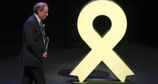 Quim Torra, presidente del gobierno de Cataluña, condiciona su apoyo a Pedro Sánchez