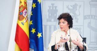 La portavoz del Gobierno español rechazó la posibilidad de unos nuevos comicios.