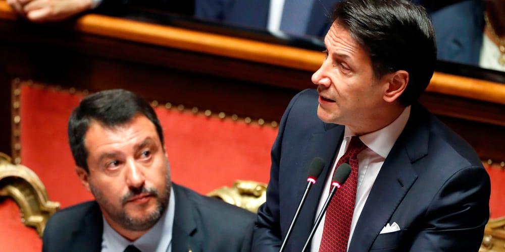 El primer ministro dirigió duras palabras contra Matteo Salvini.