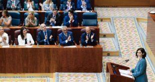 La candidata del Partido Popular para presidir la Comunidad de Madrid, Isabel Díaz Ayuso, presentó este martes su discurso de investidura, en el que destacó que será implacable contra la corrupción y realizará la mayor reducción fiscal de la historia.