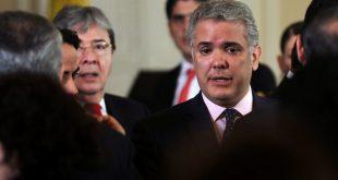El presidente de Colombia, Iván Duque, pidió a la comunidad internacional rechazar las amenazas criminales y actuar contra el terrorismo