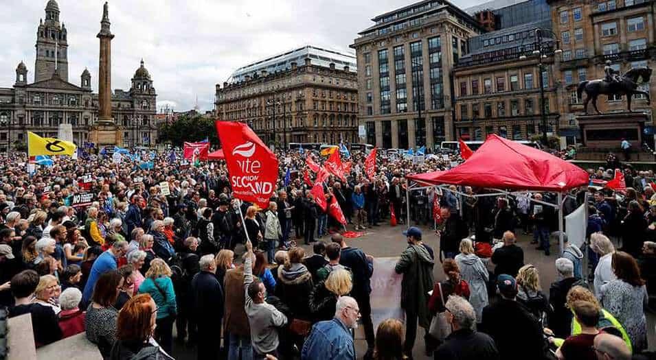 Protestas en el Reino Unido