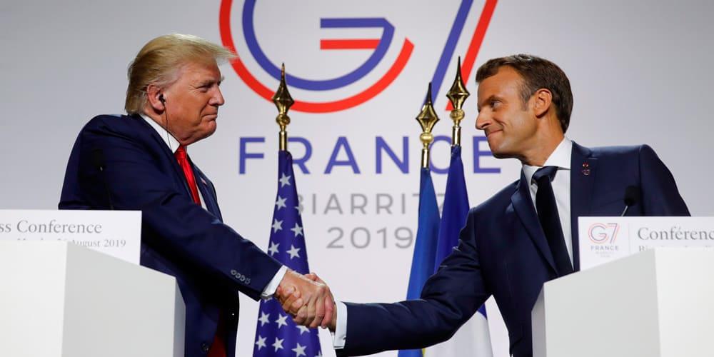 Trump y Macron se mostraron abiertos a un acuerdo sobre las tecnológicas.
