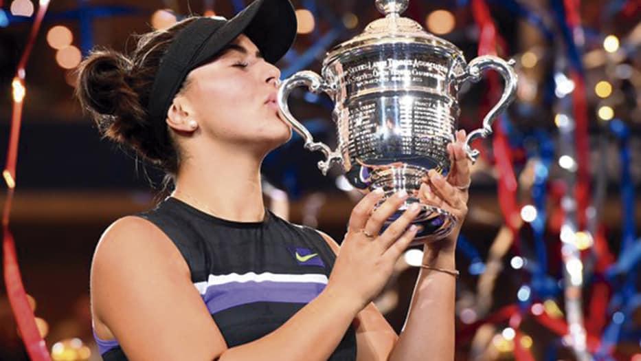 Bianca Andrescu, ganadora del US Open