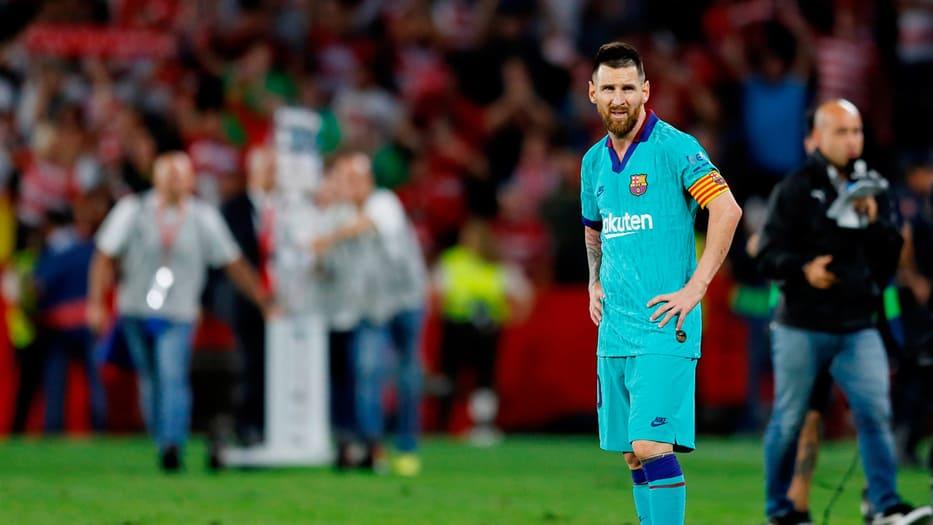 Lionel Messi ingresó en el segundo tiempo del encuentro.