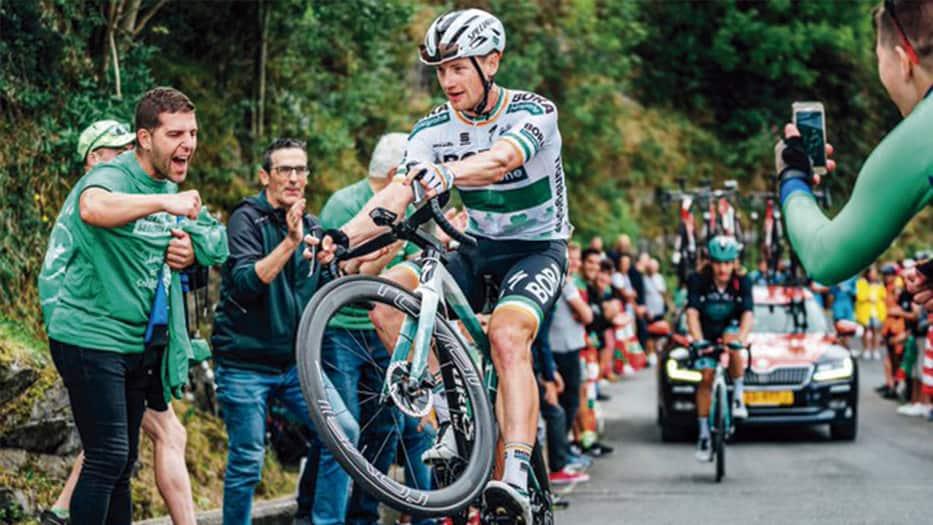 Sam Bennett, ganador de la etapa 14 de La Vuelta España