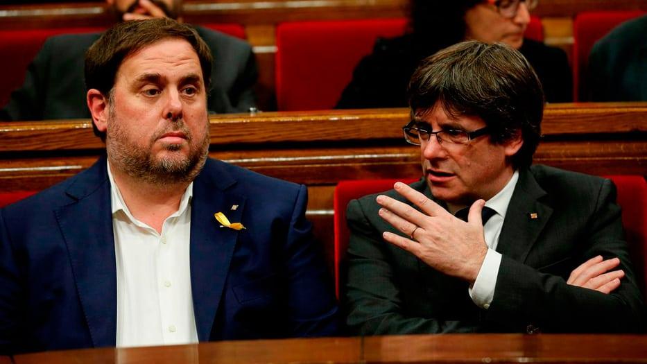 Crecen los roces entre las posturas Junqueras y Puigdemont.