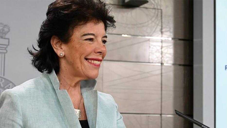 Isabel Celaá, ministra de Educación en funciones y portavoz del gobierno