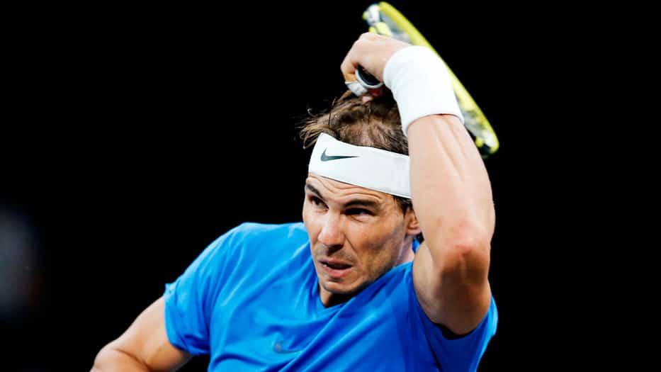 Rafael Nadal empezó con buen pie en 'singles', pero cayó en dobles.