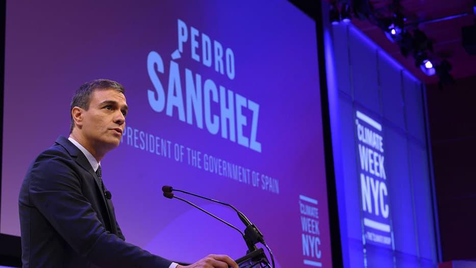 Pedro Sánchez, presidente en funciones de España, en la Climate Week