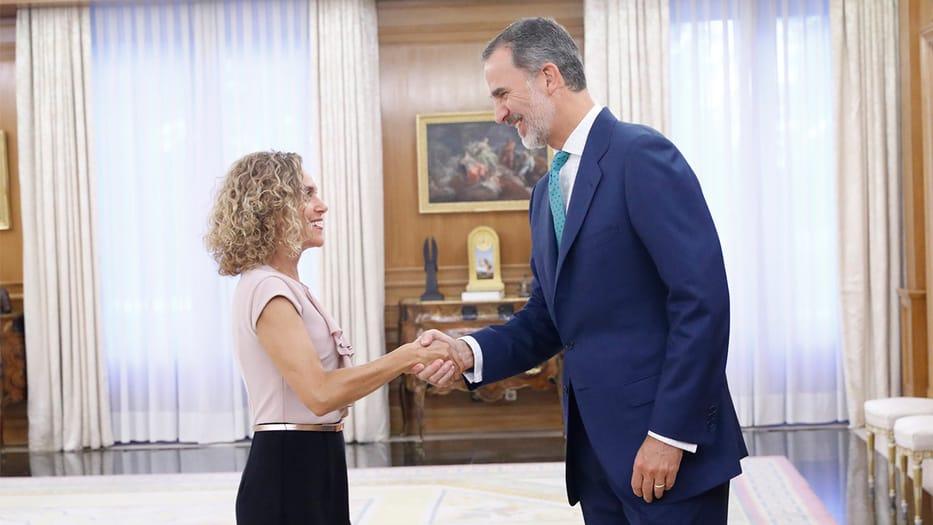 Presidenta del Congreso, Meritxell Batet y el Rey de España, Felipe VI