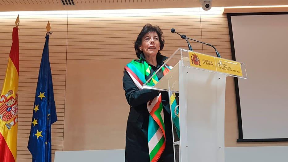 Isabel Celaá, portavoz del gobierno de España