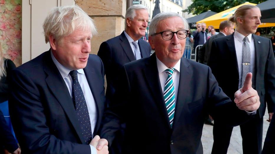 Johnson y Juncker sostuvieron un almuerzo en Luxemburgo.