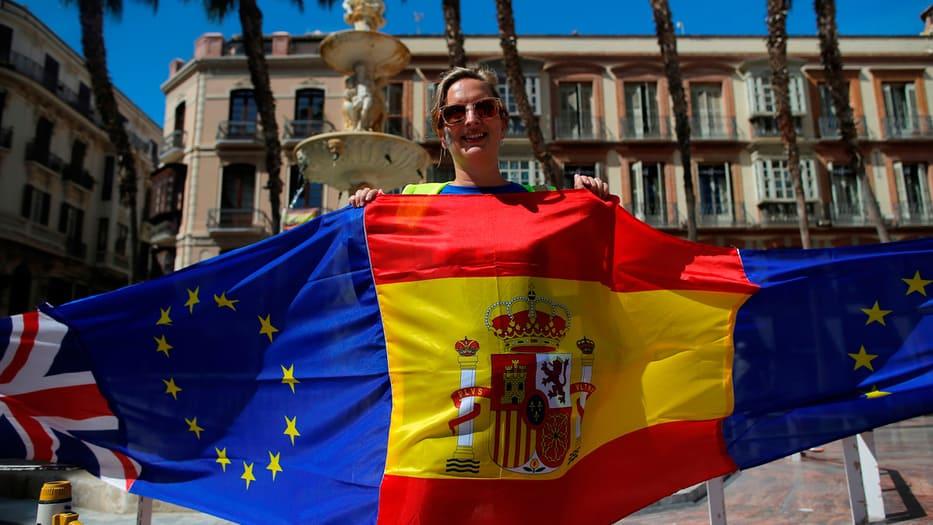 Británicos y españoles se manifestaron en Málaga en contra del Brexit.