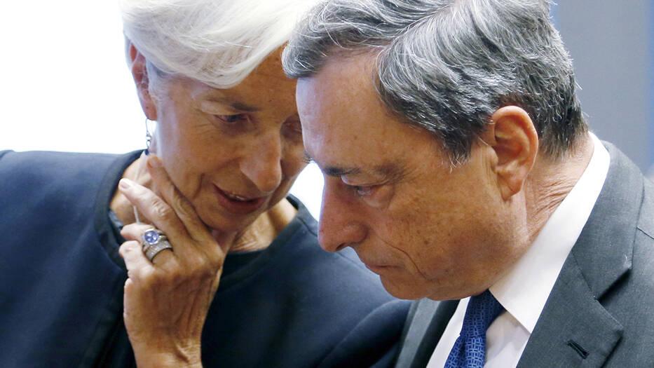 Christine Lagarde y Mario Draghi, presidenta entrante y presidente saliente del BCE