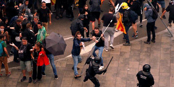 Protestas en Cataluña dejan primeros heridos de gravedad