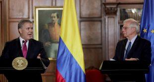El canciller Borrel fue recibido por el presidente Iván Duque, en su visita a Colombia para dar ayuda humanitaria ante la crisis migratoria venezolana