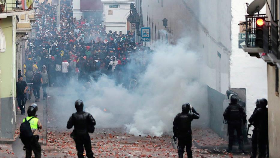 Las protestas se intensifican en la ciudad de Quito.