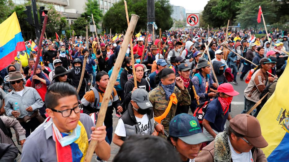 Las protestas se han intensificado en Quito.
