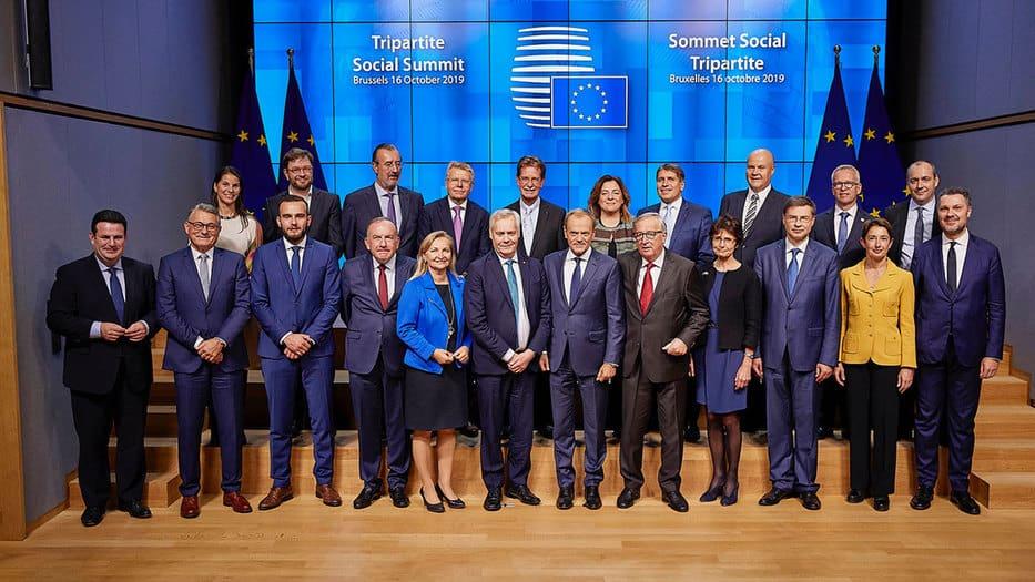 Durante la Cumbre Social Tripartita, representantes de empresas de la industria de servicios de Europa abordaron el tema del cambio climático y sus efectos en la economía/EFCI