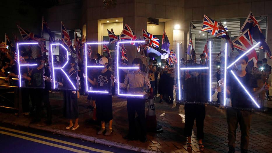 "Manifestantes protestan y piden ""libertad en Hong Kong"""