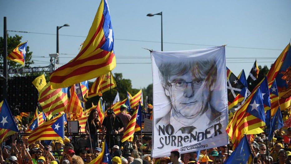 Manifestación del segundo aniversario del 1-O en Cataluña/ Facebool JuntsxCat