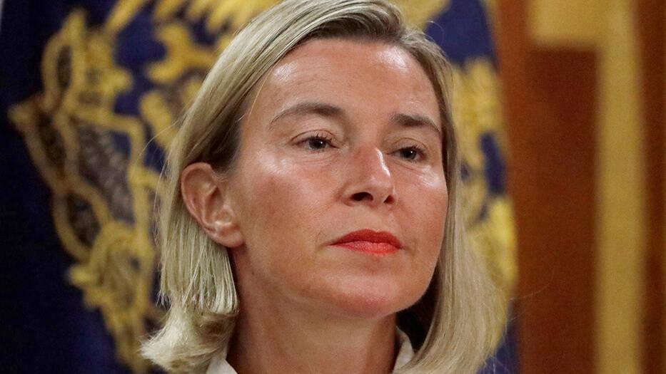 Federica Mogherini alta representante de política exterior de la Unión Europea