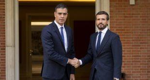 El líder del Pablo Casadole señaló al presidente Pedro Sánchez que se debe cesar a Quim Torra al frente de la Generalitat para recuperar el control, la libertad y la convivencia en Cataluña/PP Web