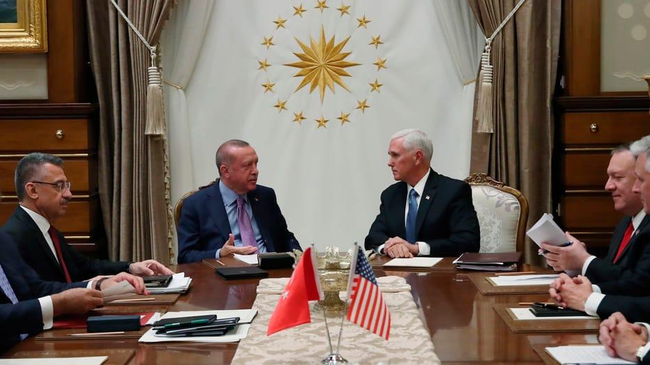 Las delegaciones de EEUU y Turquía se reunieron en Ankara.