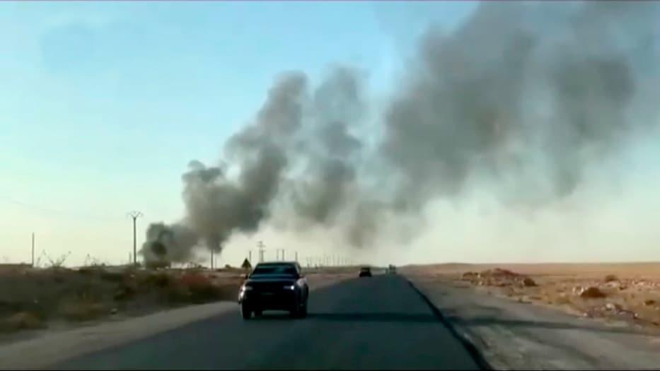 La televisión turca mostró escenas del bombardeo sobre los objetivos kurdos.