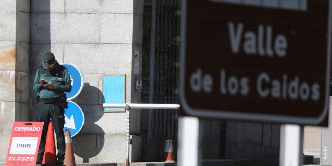 Desde el pasado viernes permanece cerrado el acceso al Valle de los Caídos para realizar los preparativos de la exhumación de los restos del dictador Francisco Franco.