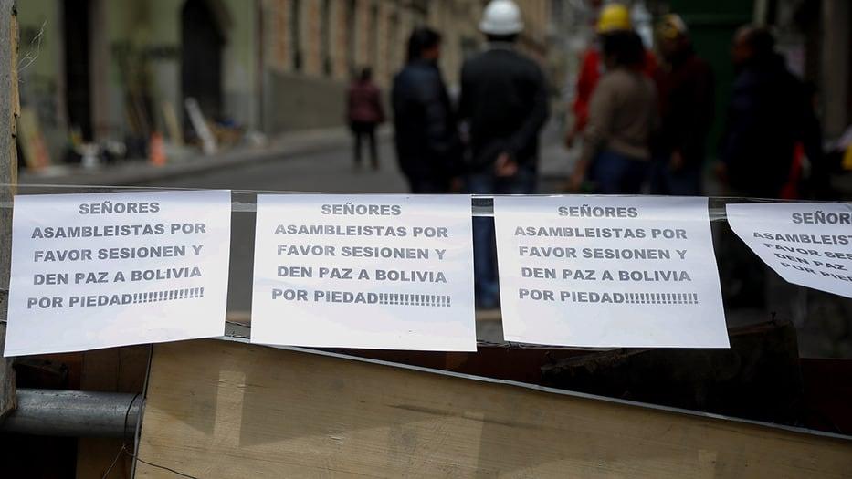 Los bolivianos esperan que  la sesión constitucional les asegure paz política, tras el fraude de Morales