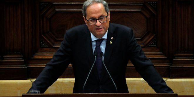 Cataluña: Torra llama al diálogo, luego de la quinta jornada violenta de protestas
