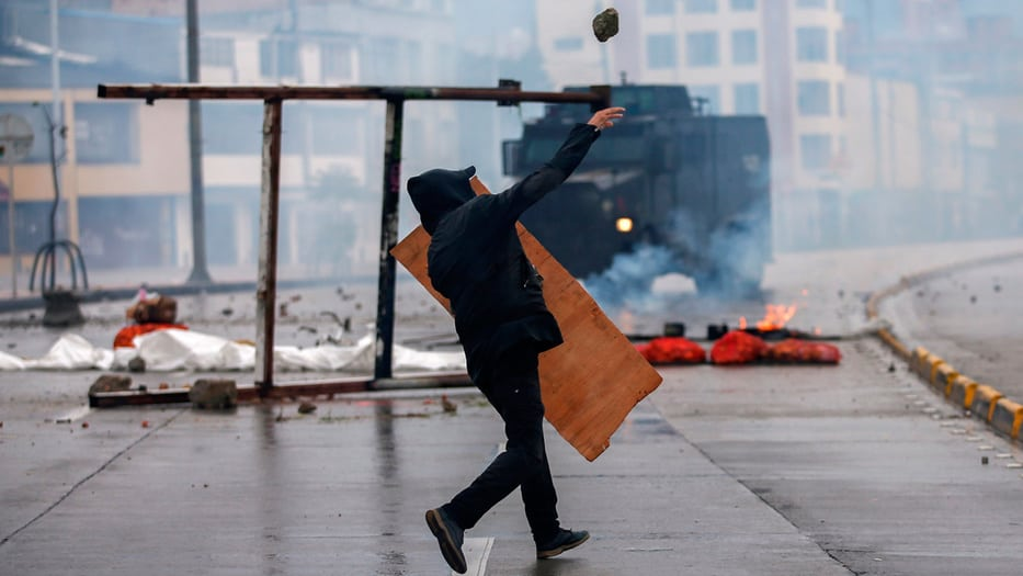 Ha habido protestas violentas en los dos últimos días en Colombia, apoyadas por la dirigencia izquierdista del país