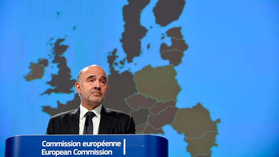 Pierre Moscovici, comisario europeo de Asuntos Económicos y Financieros de la UE, presentó las previsiones para el bloque