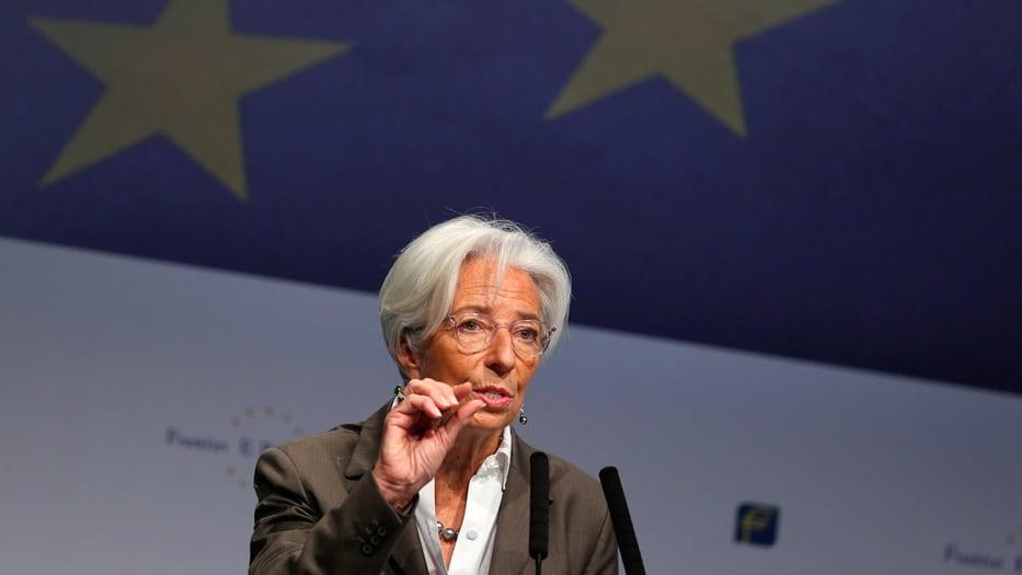 El discurso de la francesa se llevó a cabo ante el Congreso Bancario Europeo celebrado en Fráncfort, Alemania