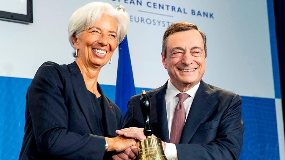 Lagarde toma el testigo de Mario Draghi a la cabeza del BCE.
