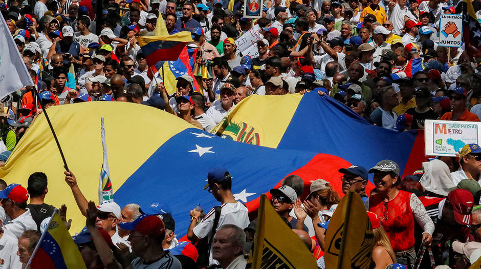 Los venezolanos salieron a las calles, una vez más, para apoyar la transición democrática en su país